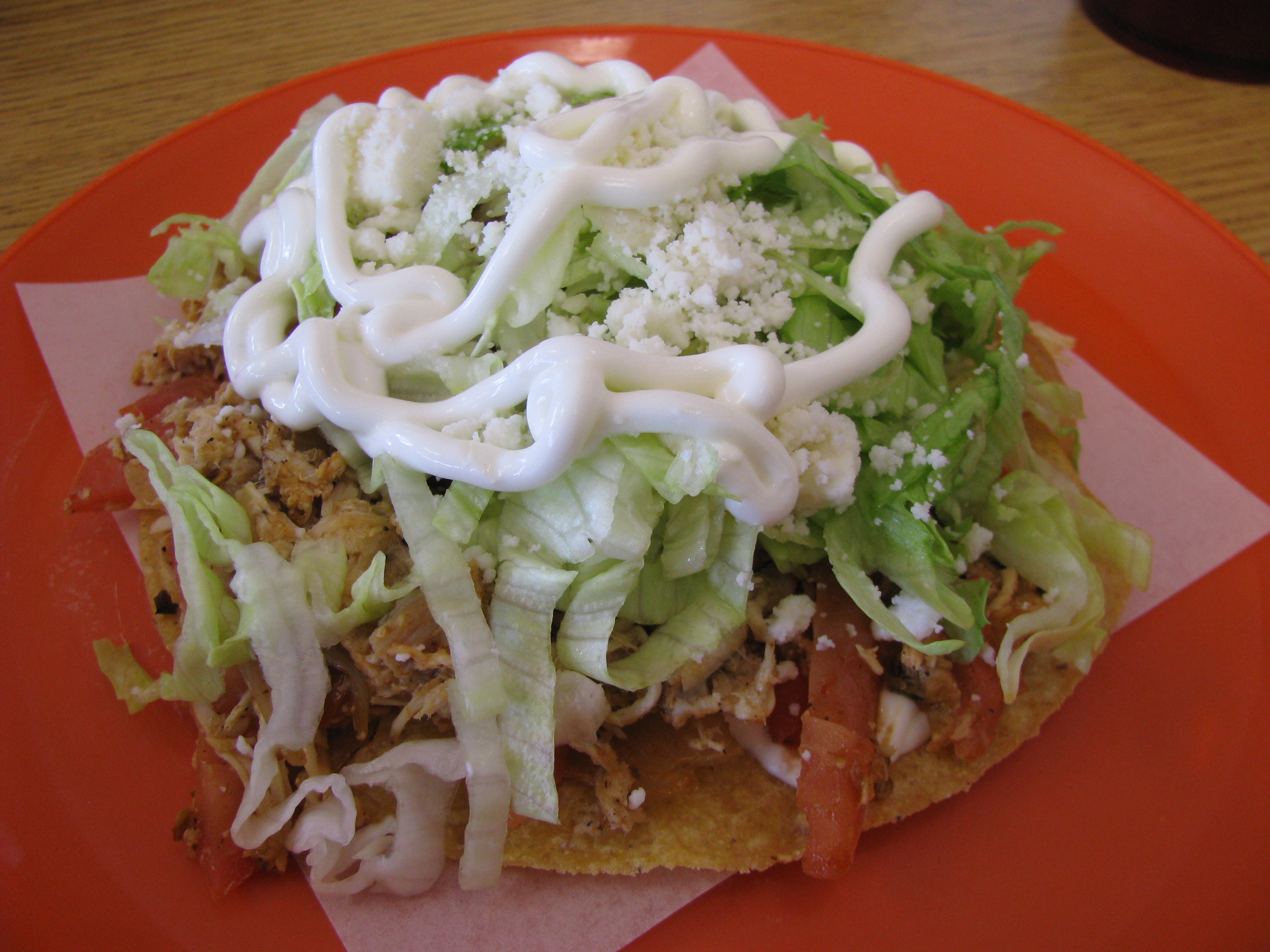 another novel dish was the tinga tostada tinga is a