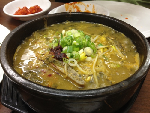 korean beef rib and cabbage soup