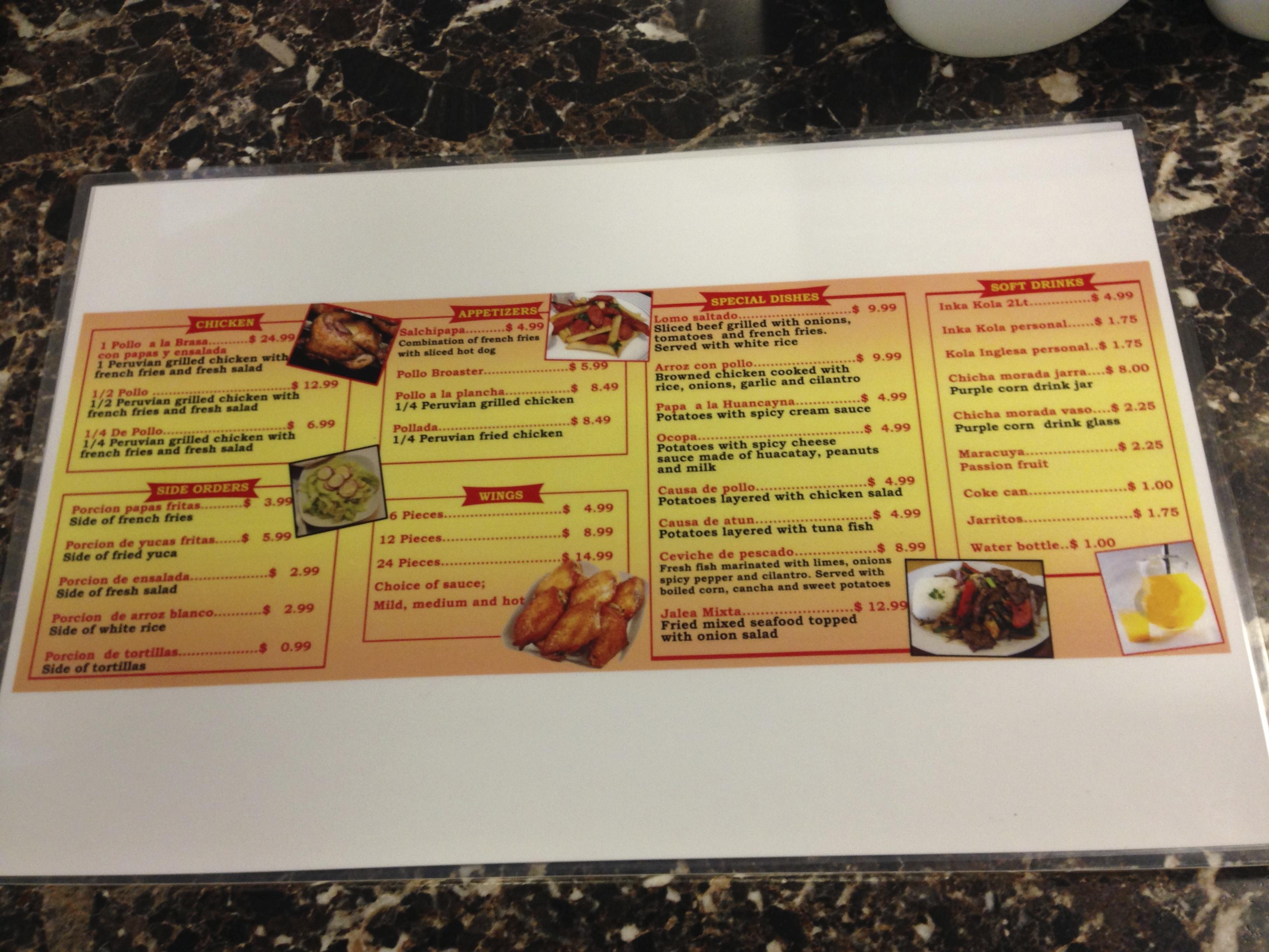 el pollo loco menu pdf